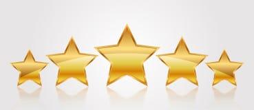 5 звезд золота Стоковая Фотография RF
