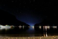 Звездная ночь в El Nido Стоковые Фото