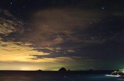 Звездная ночь на острове Perhentian Стоковые Фотографии RF