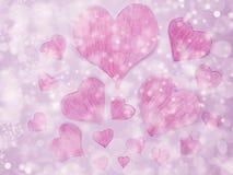 Звезд предпосылки влюбленности нерезкости абстрактных сияющих красочные Стоковое фото RF