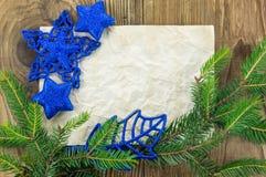 звезды абстрактной картины конструкции украшения рождества предпосылки темной красные белые Пустой старый бумажный лист с Стоковые Фото