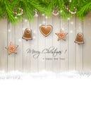 звезды абстрактной картины конструкции украшения рождества предпосылки темной красные белые иллюстрация штока