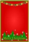 звезды абстрактной картины конструкции украшения рождества предпосылки темной красные белые Стоковая Фотография RF