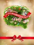 звезды абстрактной картины конструкции украшения рождества предпосылки темной красные белые 10 eps Стоковое фото RF