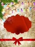 звезды абстрактной картины конструкции украшения рождества предпосылки темной красные белые 10 eps Стоковое Изображение