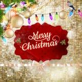 звезды абстрактной картины конструкции украшения рождества предпосылки темной красные белые 10 eps Стоковая Фотография