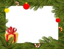 звезды абстрактной картины конструкции украшения рождества предпосылки темной красные белые разветвляет ель украшений рождества Стоковая Фотография RF