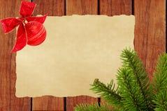 звезды абстрактной картины конструкции украшения рождества предпосылки темной красные белые Пустой старый бумажный лист с украшен Стоковые Фото