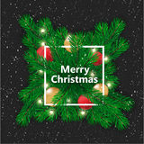 звезды абстрактной картины конструкции украшения рождества предпосылки темной красные белые счастливое Новый Год также вектор илл Стоковое Изображение RF