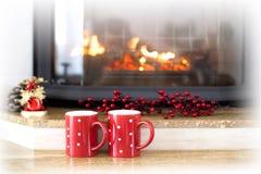 звезды абстрактной картины конструкции украшения рождества предпосылки темной красные белые Новый Год предпосылки Зимний отдых Стоковое Изображение