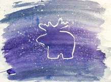 звезды абстрактной картины конструкции украшения рождества предпосылки темной красные белые Белые северные олени на фиолетовой пр бесплатная иллюстрация