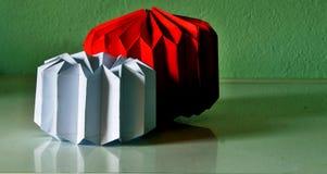 Звезды бумаги красного и белого рождества стоковая фотография rf
