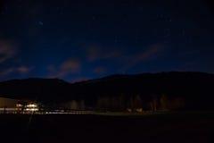 Звезды в ночном небе Стоковое Изображение