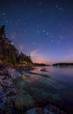Звезды вдоль берега острова Стоковое фото RF