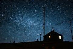 Звезды в прикарпатских горах Стоковое Фото