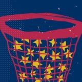 Звезды в сети на ночном небе плакат Стоковое Изображение
