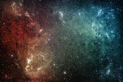 Звезды галактики вселенный звезды космоса nebula предпосылки цветастая стоковая фотография rf