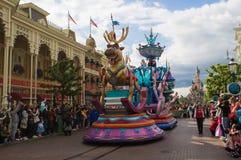 Звезды Дисней на параде Стоковые Фото
