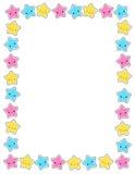 звезды звезды граници Стоковое Фото