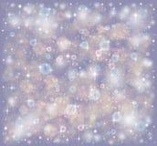 Звезды и блесточки на фиолетовой предпосылке Стоковая Фотография RF