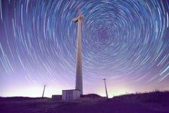 Звезды и ветрогенераторы Стоковое Изображение