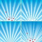 Звезды и лучи Стоковое Фото