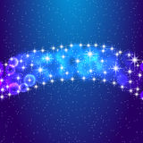 Звезды и ночное небо Иллюстрация вектора eps10 Стоковое Фото