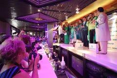 Звезды и операторы на представлении Лены Lenina играют главные роли Стоковое фото RF