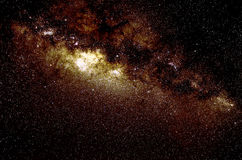 Звезды и предпосылка ночи неба космоса галактики Стоковая Фотография RF