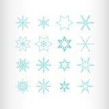 Звезды и снежинки зимы Стоковые Фотографии RF