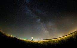 Звезды млечного пути стоковое изображение