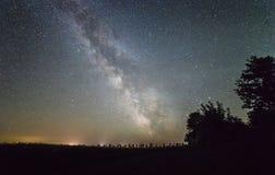 Звезды млечного пути стоковые фото