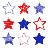 Звезды нарисованные рукой Стоковое фото RF