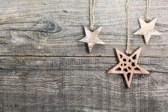 Звезды на выдержанной деревянной доске Стоковые Изображения RF