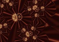 Звезды на иллюстрации предпосылки золота Стоковые Фотографии RF