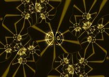 Звезды на иллюстрации предпосылки золота Стоковое Изображение