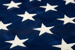 Звезды на крупном плане американского флага Стоковое Изображение RF