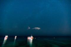 Звезды над океаном Стоковое Фото