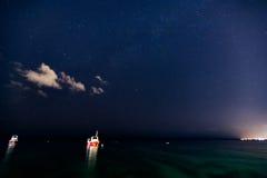 Звезды над океаном Стоковое Изображение RF