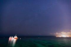 Звезды над океаном Стоковое фото RF