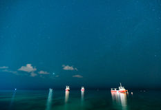 Звезды над океаном Стоковая Фотография RF