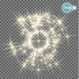 Звезды на прозрачной предпосылке в eps10 Стоковое фото RF