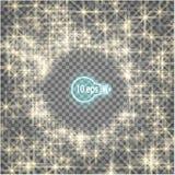 Звезды на прозрачной предпосылке в eps10 Стоковые Фотографии RF
