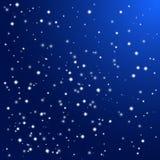 звезды ночного неба Предпосылка вектора Стоковая Фотография RF