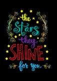 Звезды они светят для вас Стоковая Фотография RF