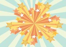 звезды предпосылки ретро Стоковое Изображение