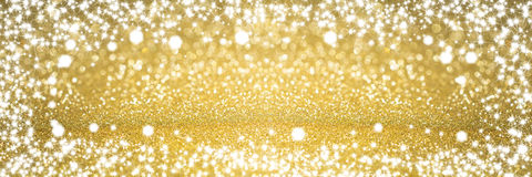 Звезды предпосылки рождества золотые Стоковые Изображения RF