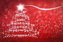 Звезды предпосылки рождественской елки Стоковое Фото