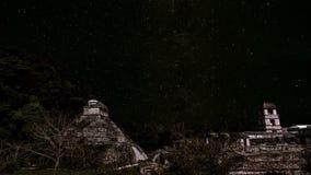 Звезды пропуская над Palenque сток-видео