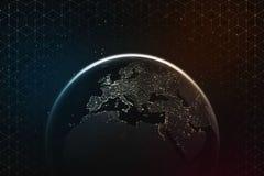 звезды планеты земли предпосылки полные Стоковое Изображение RF
